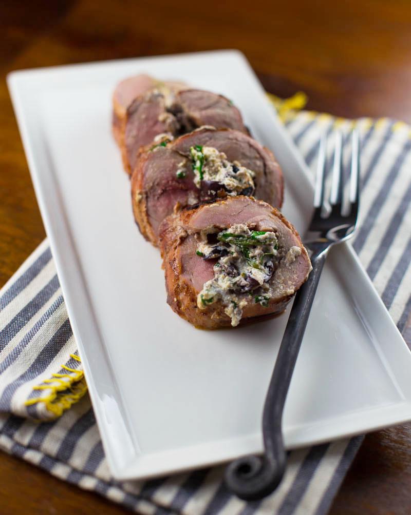 Stuffed Pork Tenderloin Mediterranean Style